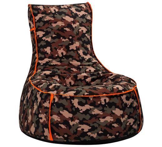 SITZSACK in Textil Olivgrün  - Olivgrün, Textil (90/95/65cm)