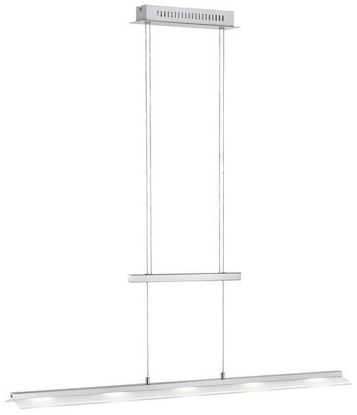 LED-HÄNGELEUCHTE - Nickelfarben, Design, Metall (100/12/180cm)