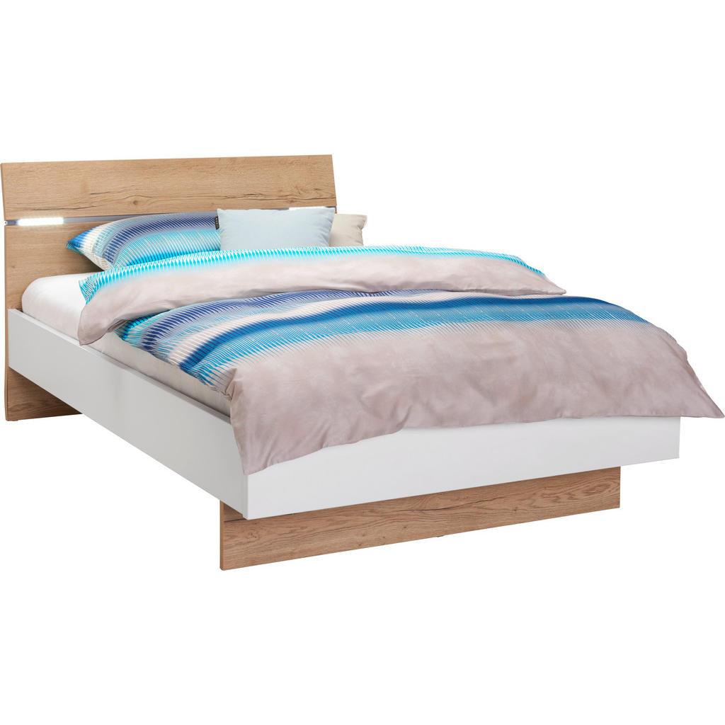 Hom`in Bett 120/200 cm in weiss