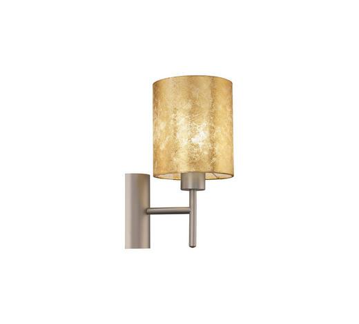 WANDLEUCHTE - Champagner/Goldfarben, KONVENTIONELL, Textil/Metall (14,5cm)