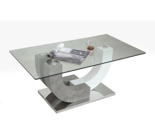 KLUB STOLIĆ - bijela/prozirno, Design, staklo/metal (110/45/60cm) - Hom`in