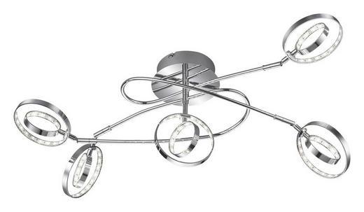 LED-DECKENLEUCHTE - Chromfarben, Design, Metall (42/62cm)