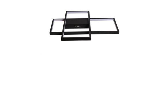 LED-DECKENLEUCHTE   - Schwarz, Design, Kunststoff/Metall (50/40/6cm) - Ambiente