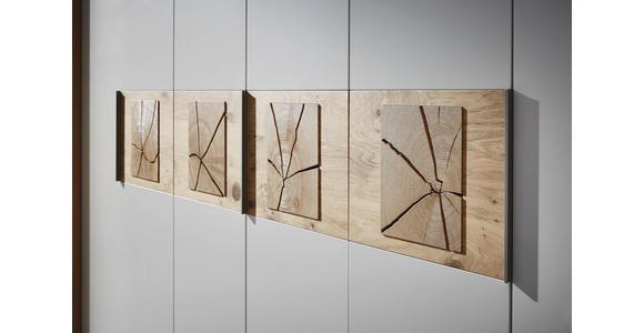 DREHTÜRENSCHRANK in Eichefarben, Sandfarben  - Sandfarben/Eichefarben, KONVENTIONELL, Holz/Holzwerkstoff (249,6/229,4/59,5cm) - Dieter Knoll