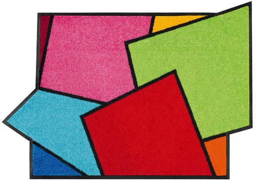 FUßMATTE 60/85 cm Graphik Multicolor - Multicolor, Basics, Kunststoff/Textil (60/85cm) - Esposa