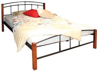 KREVET - smeđa/crna, Konvencionalno, drvo/metal (200/180cm) - Boxxx
