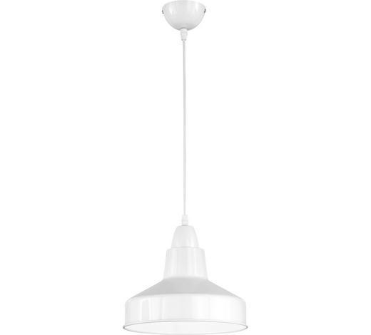 HÄNGELEUCHTE - Weiß, LIFESTYLE, Metall (26cm)