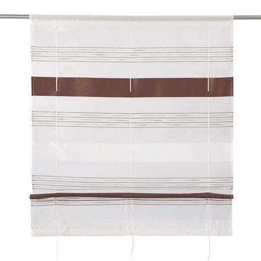 RAFFROLLO  halbtransparent   100/130 cm - Dunkelbraun, Basics, Textil (100/130cm) - ESPOSA