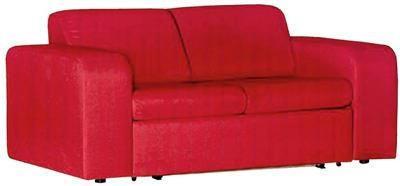 SCHLAFSOFA Webstoff Rot - Rot/Schwarz, Design, Kunststoff/Textil (176/79/97cm) - Carryhome