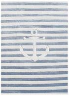 KINDERTEPPICH  120/180 cm  Hellblau, Weiß - Weiß/Hellblau, Basics, Textil (120/180cm)