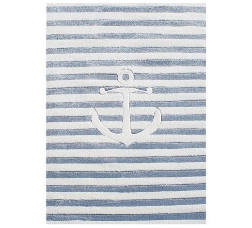 KINDERTEPPICH  160/230 cm  Weiß, Hellblau   - Weiß/Hellblau, Basics, Textil (160/230cm)