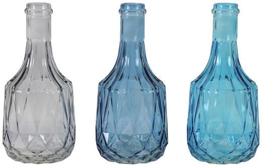 DEKOVASE - Blau/Grau, Trend, Glas (18cm)