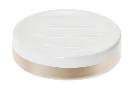 SEIFENSCHALE Keramik - Goldfarben/Weiß, Basics, Keramik (10,4/2,7/10,1cm) - Celina