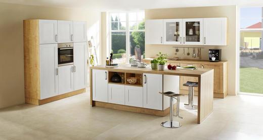 Einbauküche eichefarben weiß design kunststoff nolte küchen