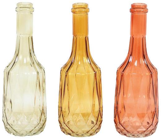 DEKOVASE - Goldfarben/Hellgrün, Trend, Glas (23cm)