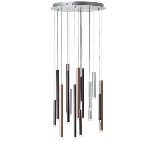 LED-HÄNGELEUCHTE - Dunkelbraun, KONVENTIONELL, Kunststoff/Metall (55,3/180cm)