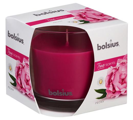 VONNÁ SVÍČKA - pink/čiré, Basics, sklo (9,5/9,5cm) - Bolsius