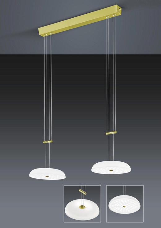 LED-HÄNGELEUCHTE - Design, Glas/Metall (74/150cm) - Bankamp