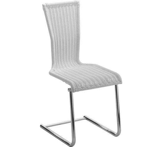 SCHWINGSTUHL in Metall, Kunststoff Silberfarben - Silberfarben, Design, Kunststoff/Metall (45/96/56cm) - Bacher