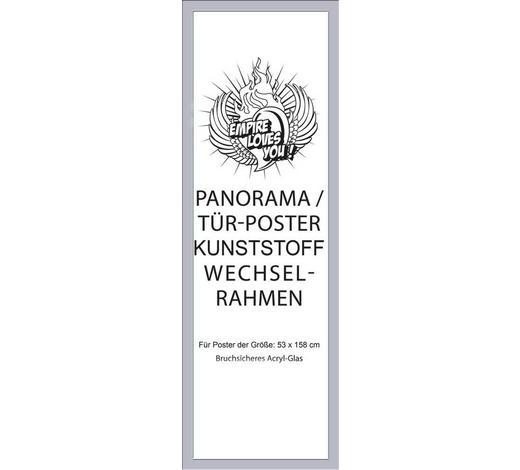 BILDERRAHMEN in Silberfarben  - Silberfarben, KONVENTIONELL, Kunststoff (60/165/2cm)