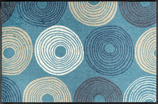 FUßMATTE 50/75 cm Graphik Hellblau - Hellblau, Kunststoff/Textil (50/75cm) - Esposa