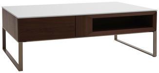 COUCHTISCH in Holz, Holzwerkstoff, Metall 120/75/40 cm - Nussbaumfarben/Weiß, Design, Holz/Holzwerkstoff (120/75/40cm) - Dieter Knoll