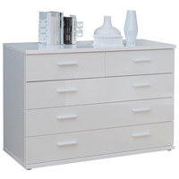 KOMODA - bílá, Design, kov/dřevěný materiál (125,4/84,3/42cm) - Voleo