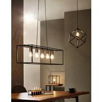 LAMPA STOLNÍ - černá, Design, kov (25/25/25cm) - Marama