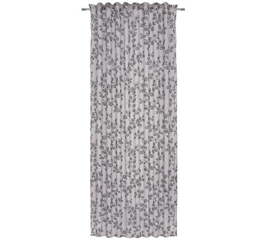 ÖSENVORHANG halbtransparent - Schwarz, KONVENTIONELL, Textil (140/245cm) - Esposa