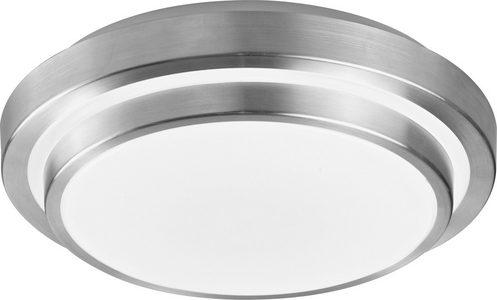 LED PLAFONJERA - Boja aluminijuma/Bela, Osnovno, Plastika/Metal (29/29/9cm) - Novel