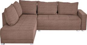 WOHNLANDSCHAFT in Braun Textil - Silberfarben/Schwarz, Design, Kunststoff/Textil (207/243cm) - Xora