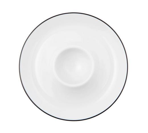 EIERBECHER Keramik  - Schwarz/Weiß, KONVENTIONELL, Keramik (13,3/9,4cm) - Seltmann Weiden