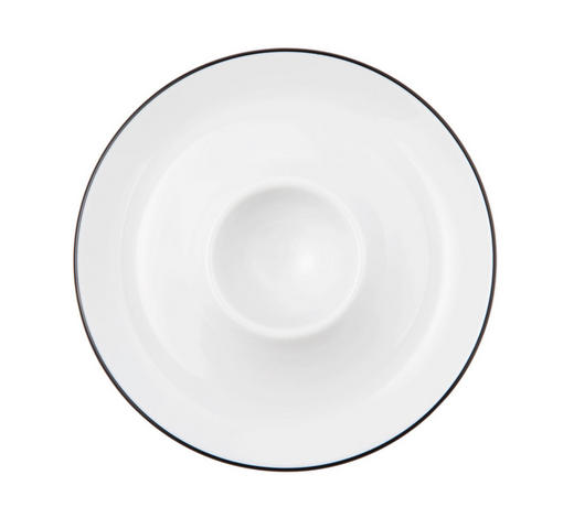 KALÍŠEK NA VEJCE - bílá/černá, Lifestyle, keramika (13cm) - Seltmann Weiden