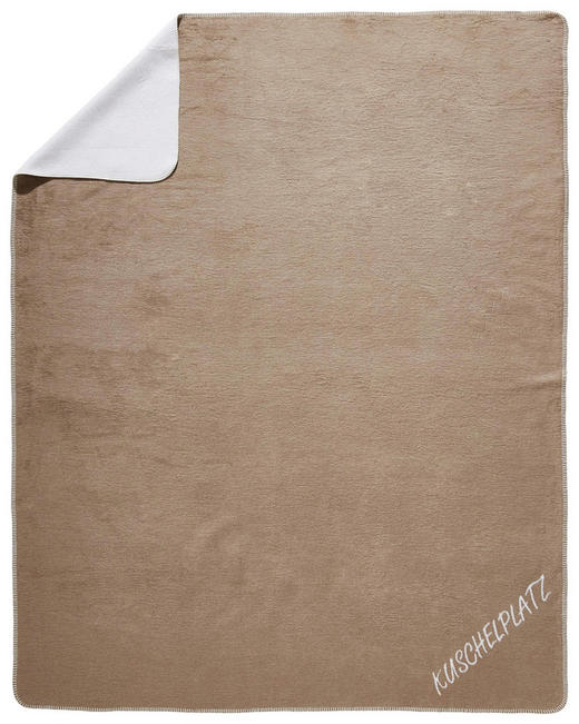 KUSCHELDECKE 150/200 cm Naturfarben, Taupe - Taupe/Naturfarben, Basics, Textil (150/200cm) - Novel