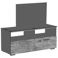 TV DÍL - černá/hnědá, Design, kov/dřevěný materiál (110/49/42cm) - Carryhome