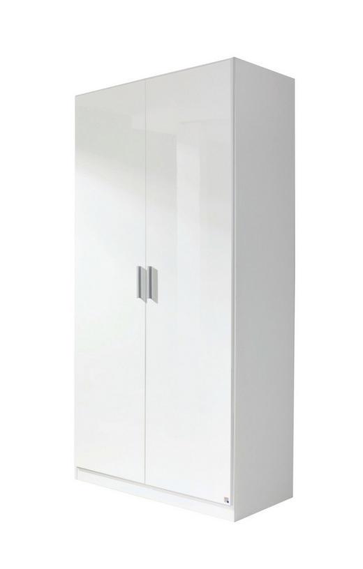DREHTÜRENSCHRANK 2-türig Weiß - Alufarben/Weiß, Design, Holzwerkstoff/Kunststoff (91/197/54cm) - Carryhome