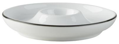 EIERBECHER Keramik  - Schwarz/Weiß, Basics, Keramik (12cm) - Novel