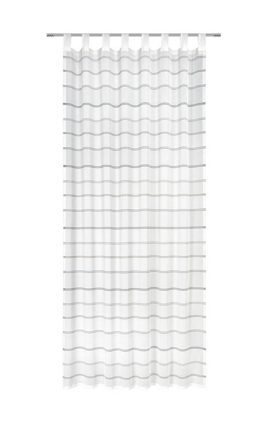 SCHLAUFENSCHAL  halbtransparent   140/255 cm - Taupe, Basics, Textil (140/255cm) - Esposa
