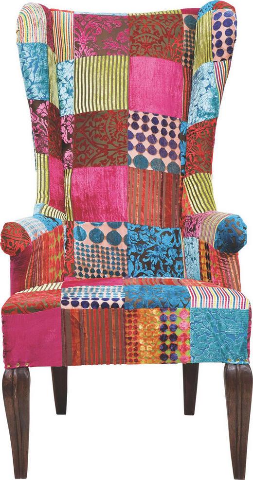 OHRENSESSEL Multicolor - Multicolor/Braun, Design, Holz/Textil (69/134/86cm) - Kare-Design