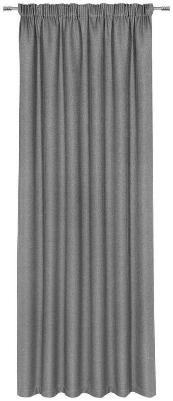 FERTIGVORHANG blickdicht - Grau, KONVENTIONELL, Textil (140/300cm) - Esposa