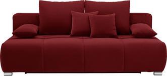 SCHLAFSOFA in Textil Rot - Chromfarben/Rot, Design, Kunststoff/Textil (212/72-90/108cm) - Hom`in