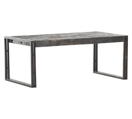 COUCHTISCH Mangoholz massiv rechteckig Braun, Grau  - Braun/Grau, Design, Holz/Metall (110/60/45cm)