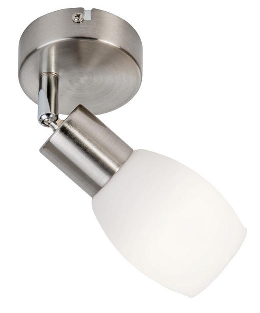 LED-STRAHLER - Weiß/Nickelfarben, Basics, Glas/Metall (10//cm) - Boxxx