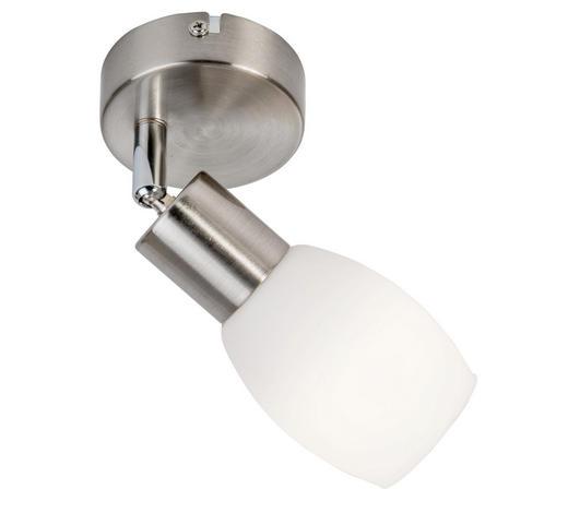 LED-STRAHLER - Weiß/Nickelfarben, Basics, Glas/Metall (10cm) - Boxxx