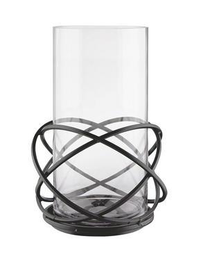 LJUSLYKTA - klar/guldfärgad, Klassisk, metall/glas (23/32cm) - Ambia Home
