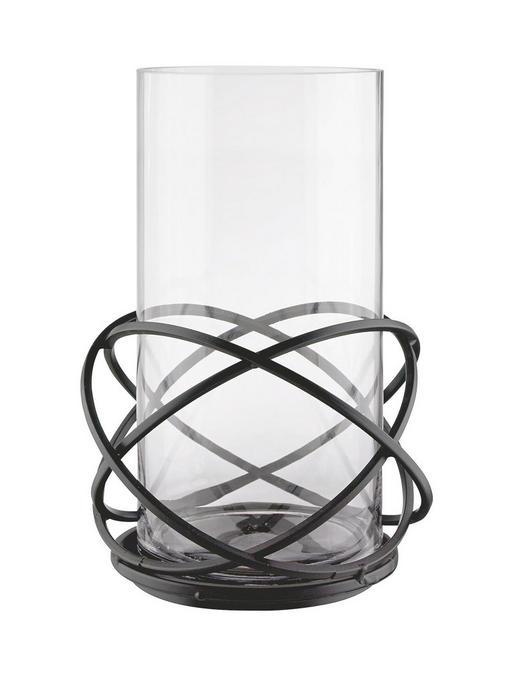 WINDLICHT - Klar/Goldfarben, KONVENTIONELL, Glas/Metall (23/32cm) - Ambia Home