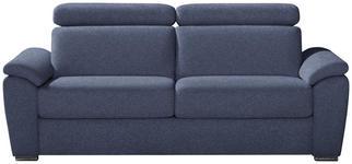 SCHLAFSOFA in Textil Blau  - Chromfarben/Blau, KONVENTIONELL, Textil/Metall (206/86-104/98cm) - Novel