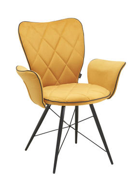 KARMSTOL - svart/gul, Design, metall/textil (57,5/89,5/61cm) - Hom`in