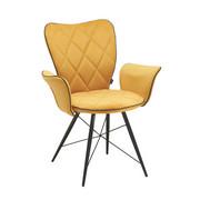 ARMLEHNSTUHL in Gelb, Schwarz  - Gelb/Schwarz, Design, Textil/Metall (57,5/89,5/61cm) - Hom`in