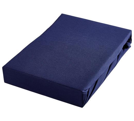 SPANNBETTTUCH Jersey Blau - Blau, Basics, Textil (100/200cm) - Bio:Vio
